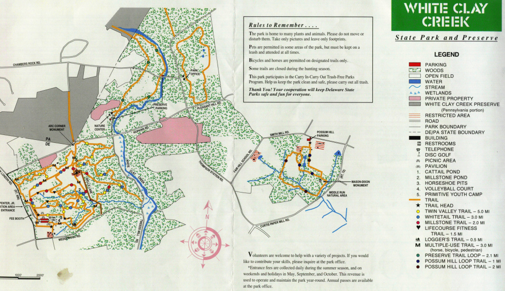 Maps And More intended for White Clay Creek State Park Trail Map