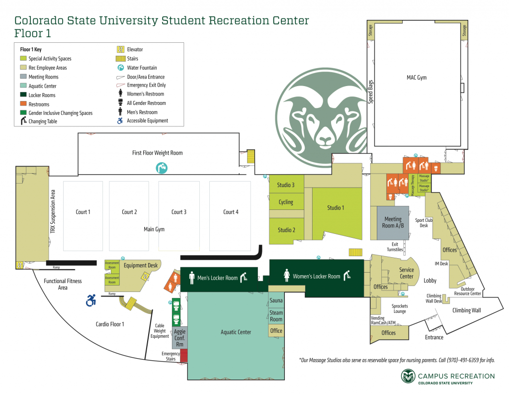 Maps - Campus Recreation in Colorado State Campus Map