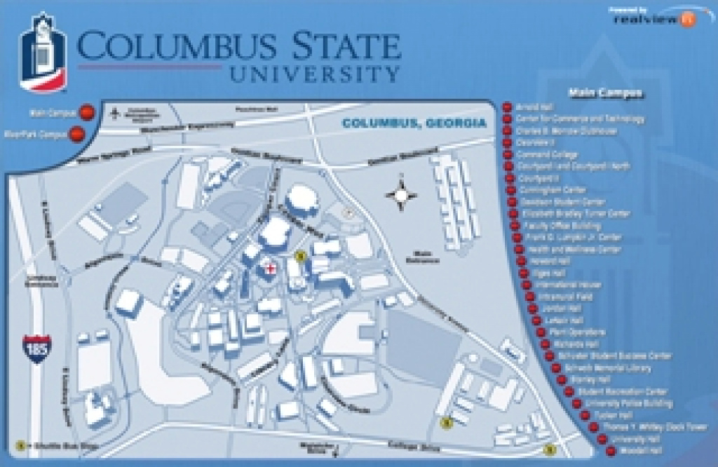 Maps - Columbus State University - Columbus, Georgia throughout Columbus State Campus Map