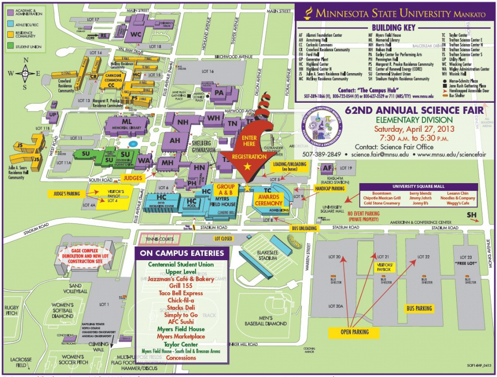Maps & Directions – Parking – Minnesota State University, Mankato in Mn State Fair Food Map