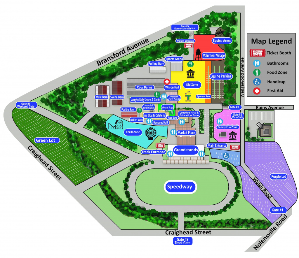 Maps & Directions | Tennessee State Fair throughout Indiana State Fair Map