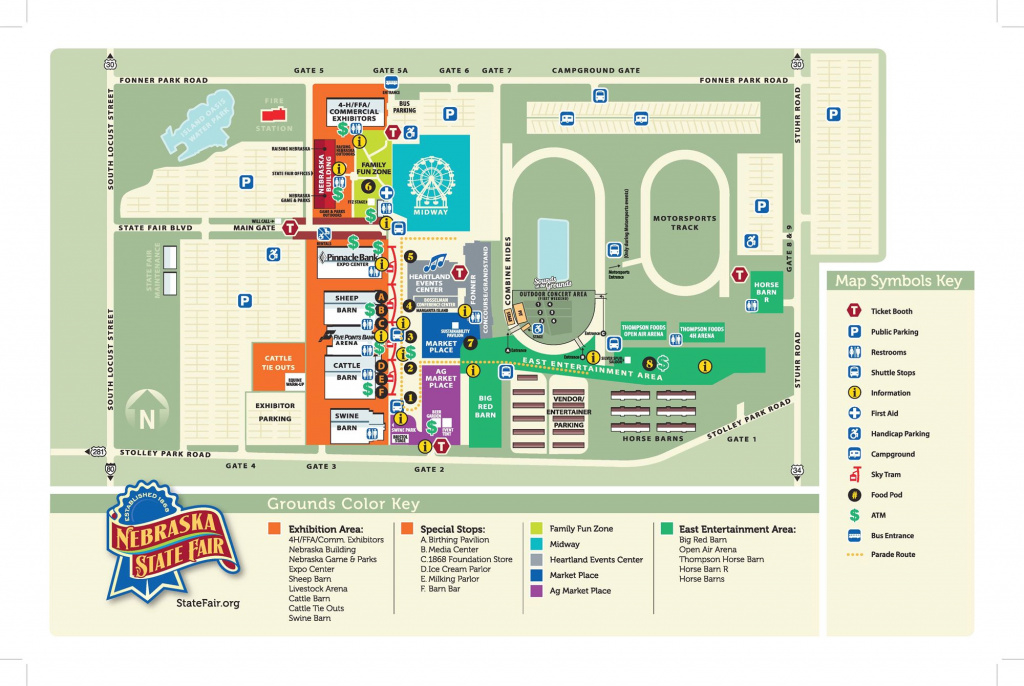 Maps & Directions with Iowa State Fair Parking Map
