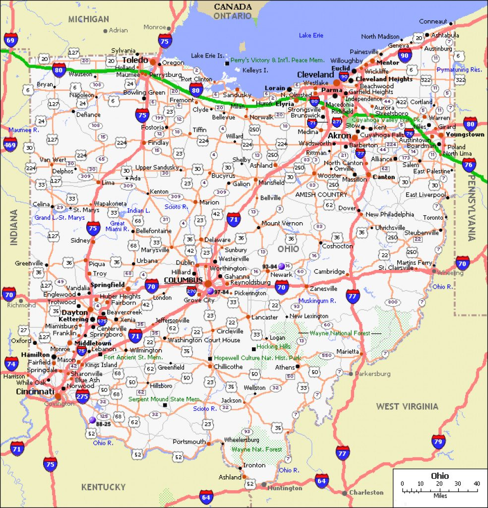 Maps. Map Ohio State   Collection Of Map Pictures Throughout Ohio State Road Map