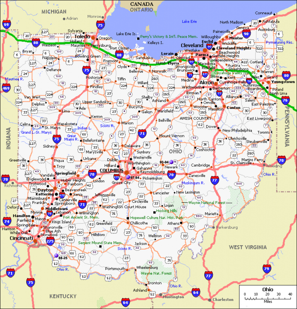 Maps. Map Ohio State - Collection Of Map Pictures throughout Ohio State Road Map