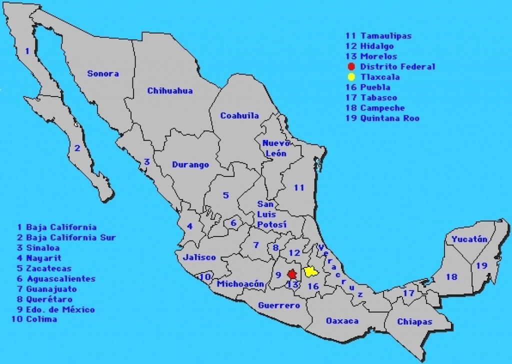 Maps. Mexican States Map - Collection Of Map Pictures inside Map Of Mexico And Its States