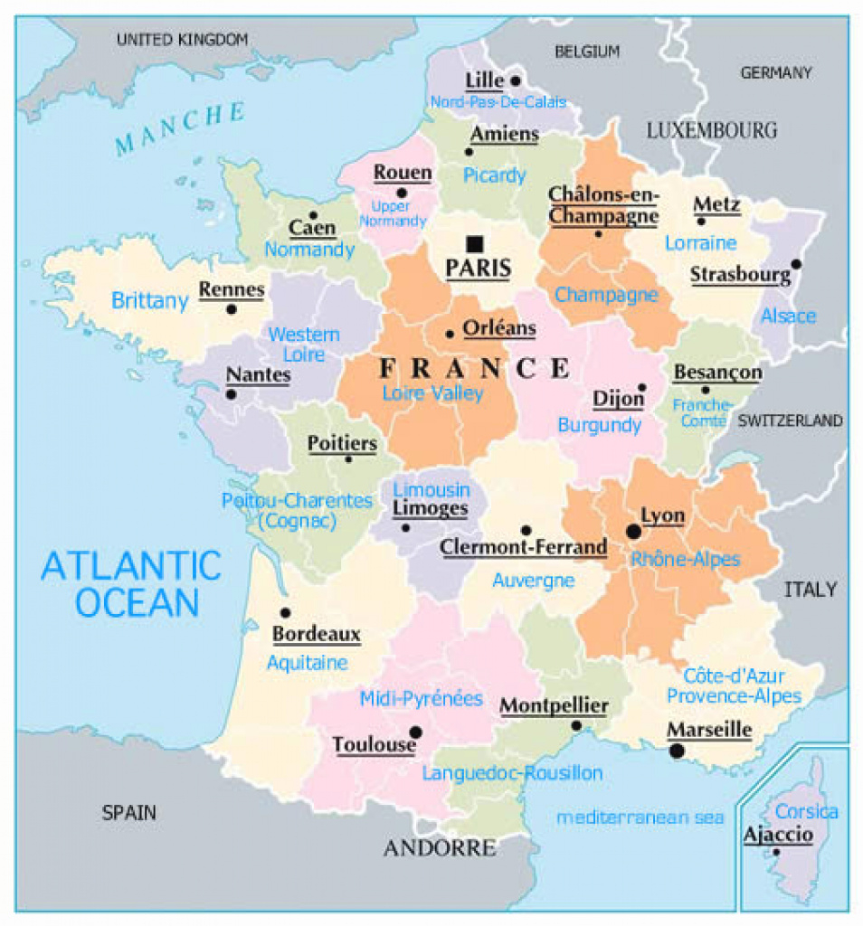 Maps Of Dallas: Regions Of France Map for France States Map