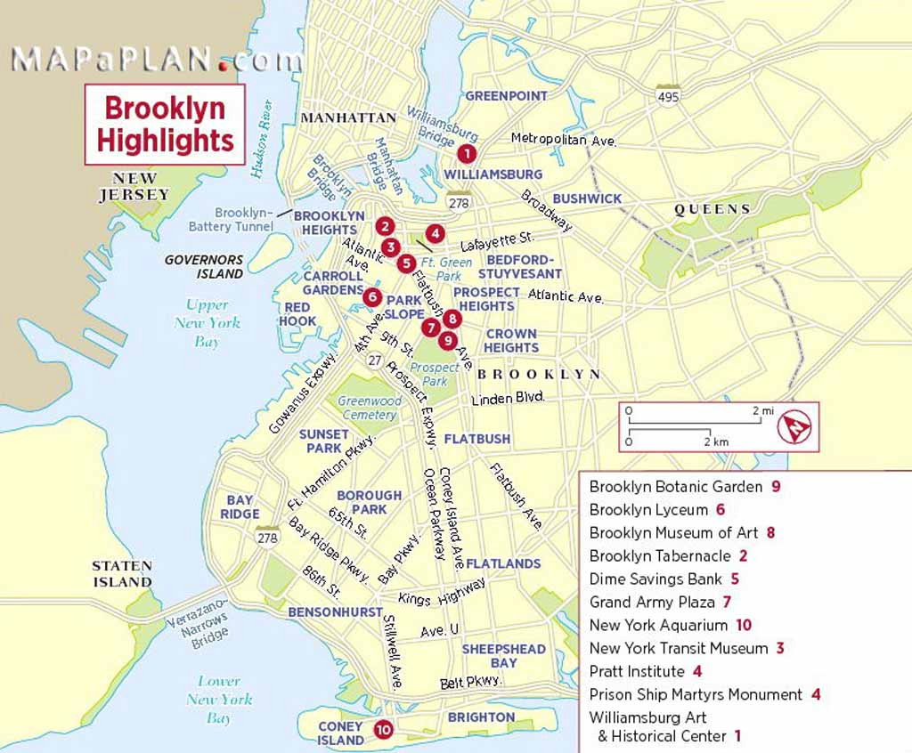 Maps Of New York Top Tourist Attractions - Free, Printable for New York State Landmarks Map