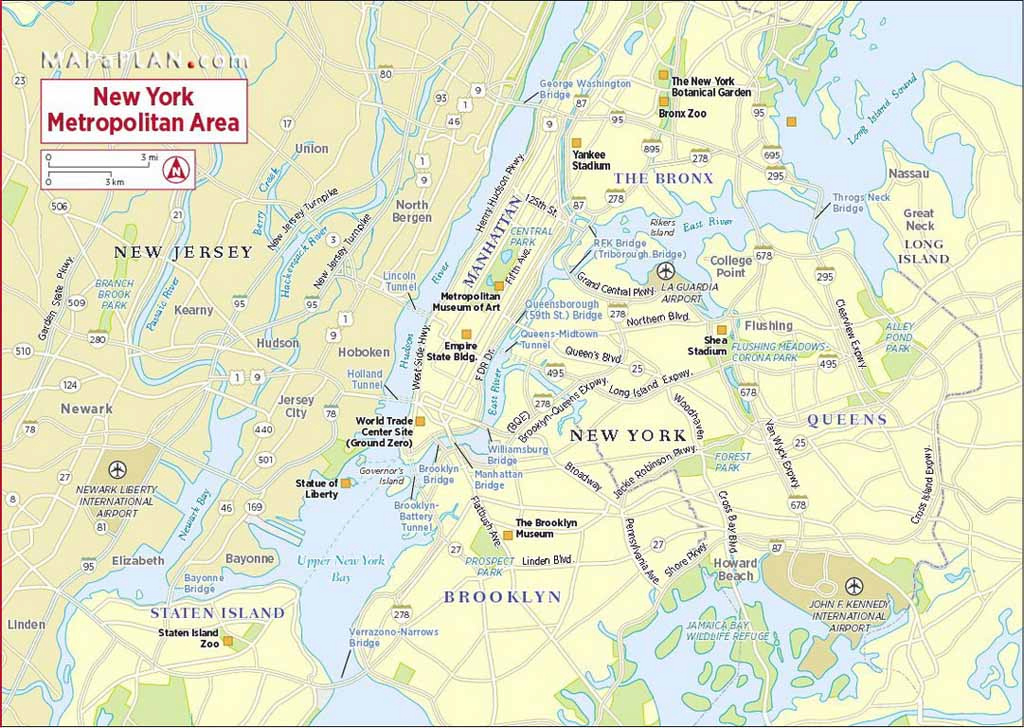 Maps Of New York Top Tourist Attractions - Free, Printable regarding New York State Landmarks Map
