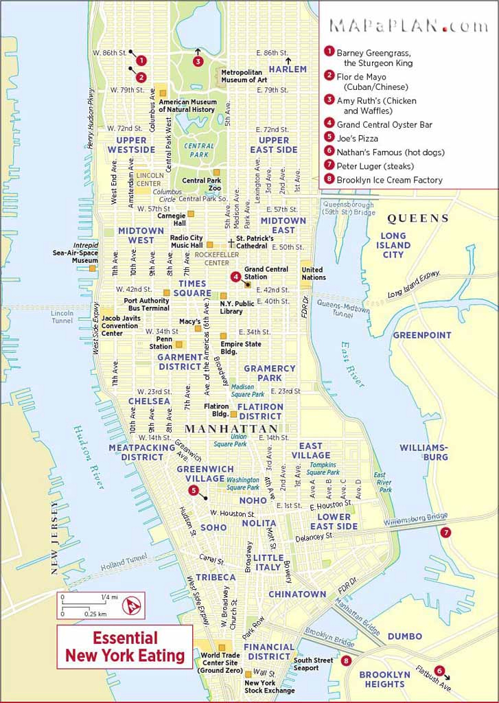Maps Of New York Top Tourist Attractions - Free, Printable with regard to New York State Landmarks Map