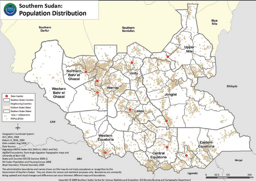 Maps Of South Sudan | Erininjuba intended for Map Of South Sudan States And Counties