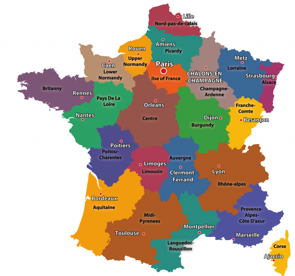 Maps Of The Regions Of France pertaining to France States Map