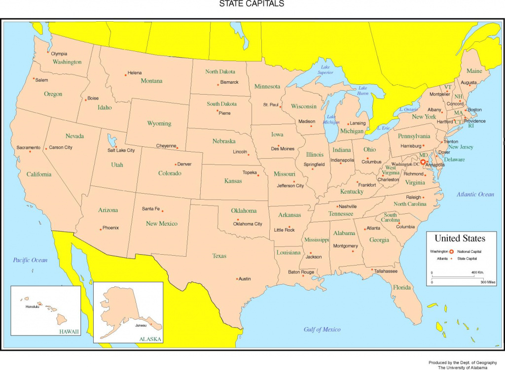 Maps Of The United States with North America Map With States And Capitals