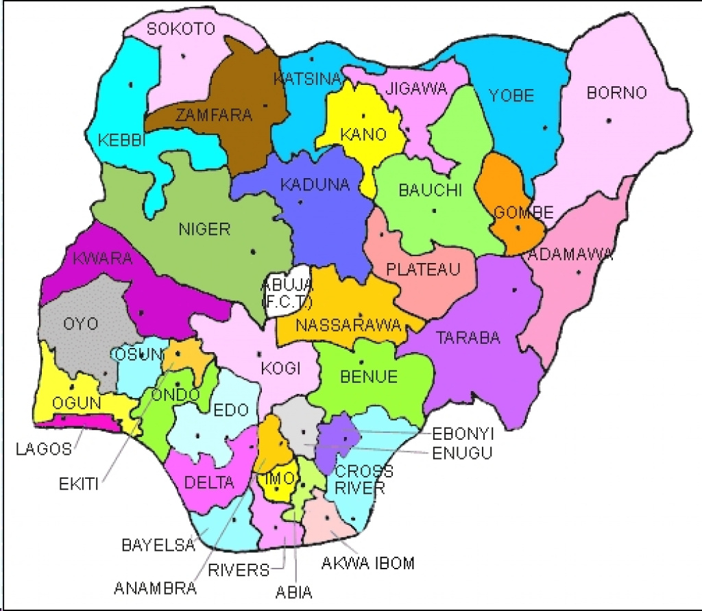 Maps Of Various States And Their Local Governments In Nigeria for Map Of Nigeria With States