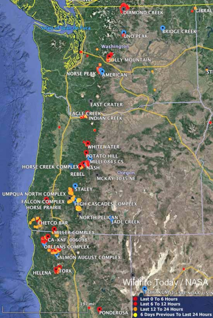 Maps Of Wildfires In The Northwest U.s. - Wildfire Today for Washington State Fire Map 2017