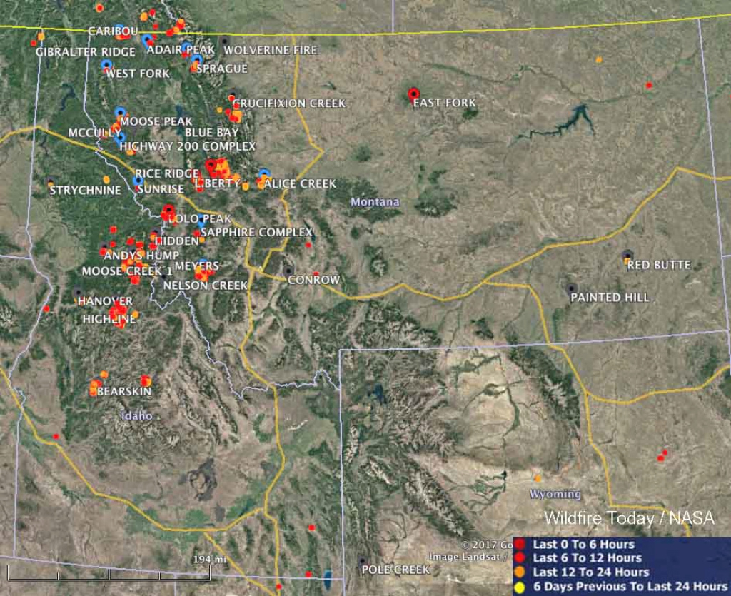 Maps Of Wildfires In The Northwest U.s. - Wildfire Today regarding Washington State Fire Map 2017