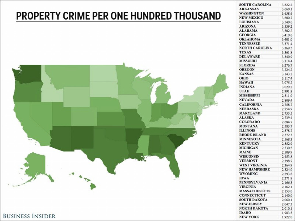 Maps On Fbi's Uniform Crime Report - Business Insider with regard to New York State Crime Map