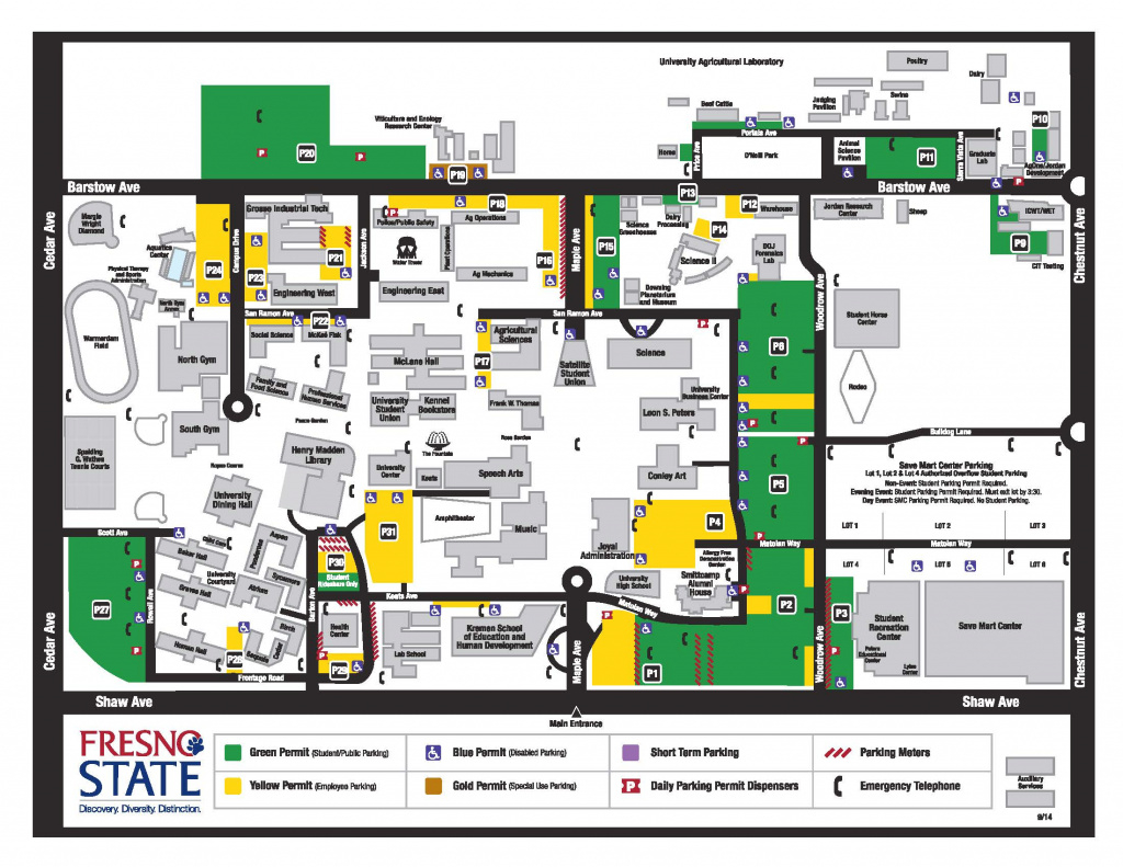 Maps, Parking, Directions within Fresno State Map Pdf