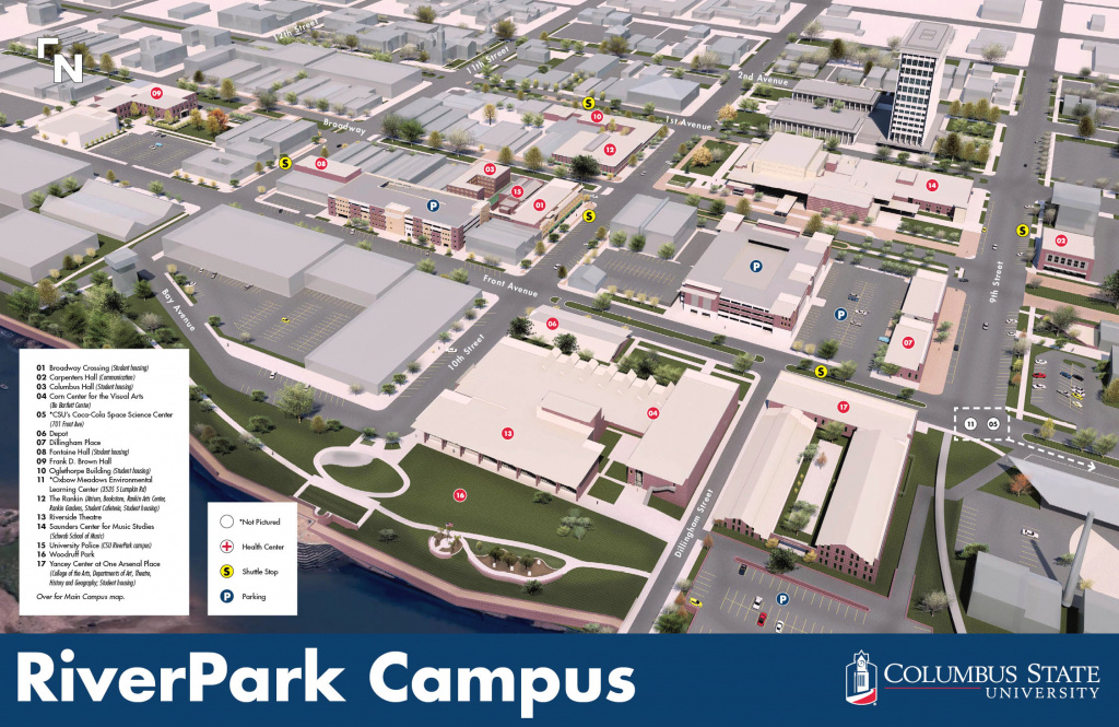 Maps pertaining to Columbus State Campus Map