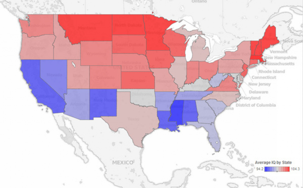 Maps Reveal Intelligence Levels Across The Us Based On Tweets with Iq By State Map