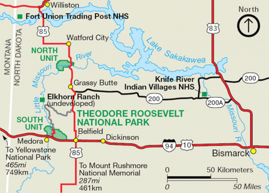 Maps - Theodore Roosevelt National Park (U.s. National Park Service) throughout South Dakota State Parks Map
