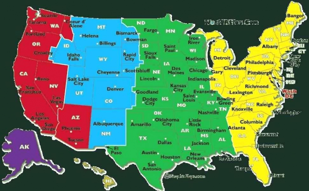 Maps: Time Zone Map Of Usa Geography Blog Us Maps Zones With States with regard to Map Of Time Zones In United States