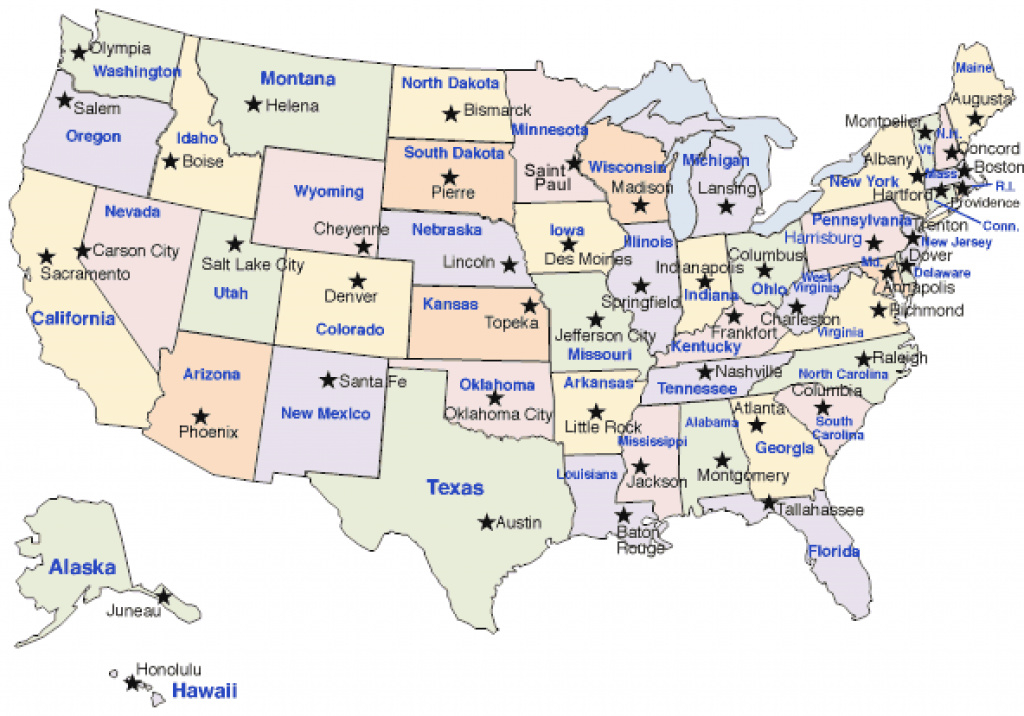 Maps United States Capitals And Travel Information | Download Free pertaining to Us Map With States Labeled And Capitals
