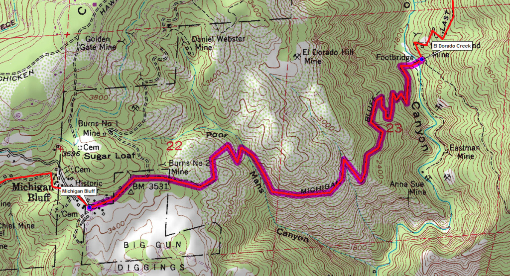 Maps – Western States Endurance Run in Western States 100 Course Map