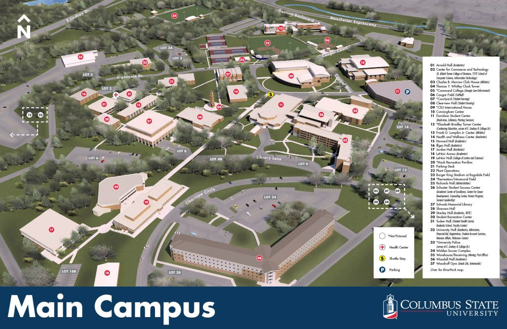 Maps With Columbus State Campus Map