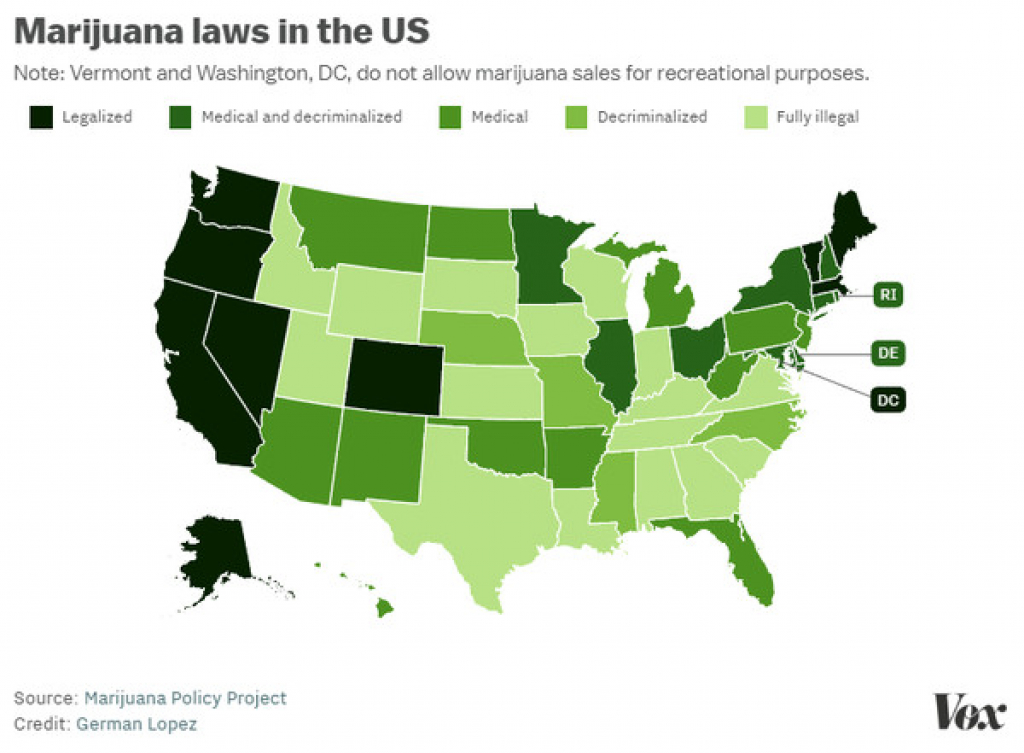 Marijuana Has Been Legalized In Nine States And Washington, Dc - The with regard to States Where Weed Is Legal Map 2016