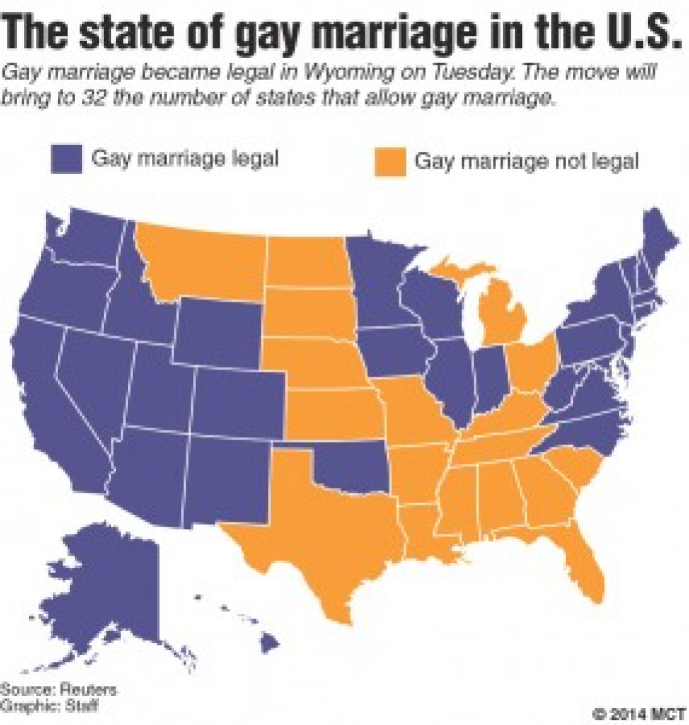 Marriage Rights Gain Momentum – The Raider Voice with Map Of Gay Marriage States 2014