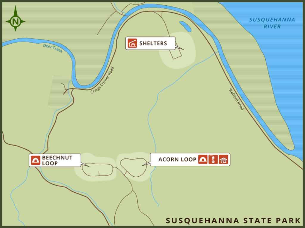 Maryland Park Service Online Reservations with regard to Susquehanna State Park Camping Map