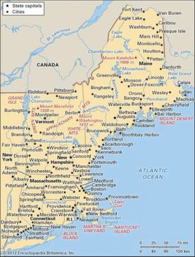Massachusetts | Flag, Facts, Maps, Capital, & Attractions in Map Of New England States And Their Capitals