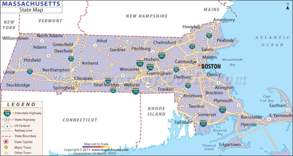 Massachusetts State Map throughout Massachusetts State Parks Map