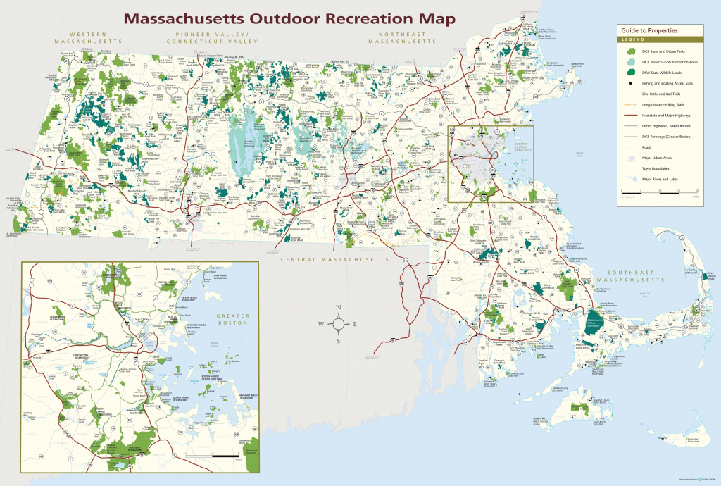 Massachusetts State Parks Map inside Massachusetts State Parks Map