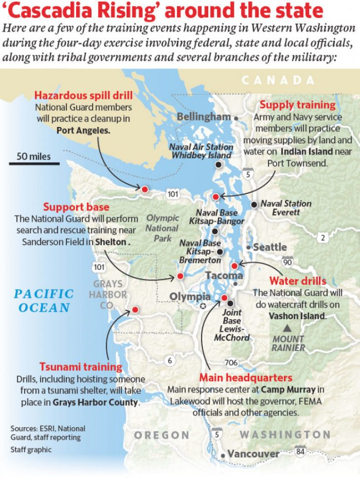 Washington State Tsunami Map