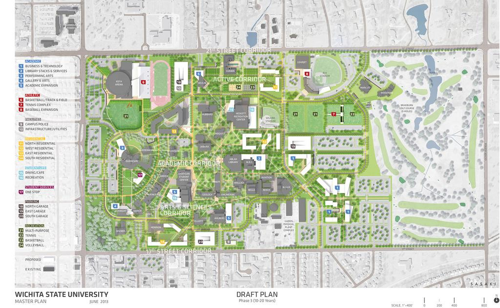 Master Plan Offers Glimpse Into Wichita State Campus' Future regarding Wichita State University Campus Map Pdf