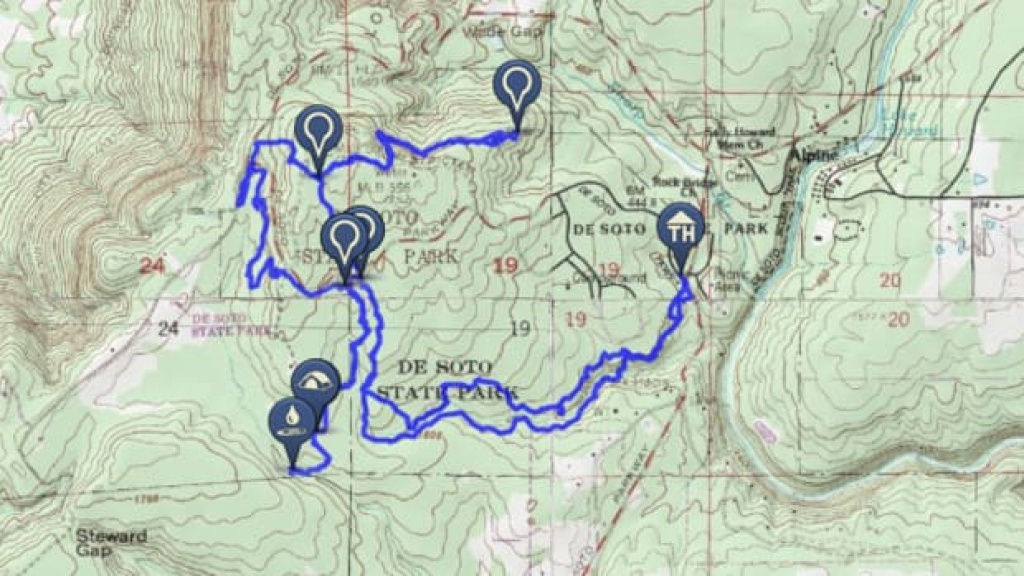 Master Southern Trails In Cheaha State Park - Backpacker inside Cheaha State Park Trail Map