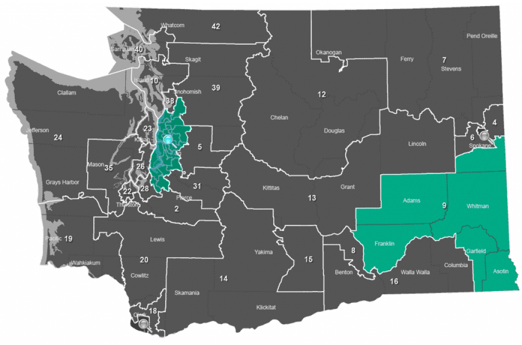 May 24, 2016 Presidential Primary - Legislative with Washington State Presidential Election Map