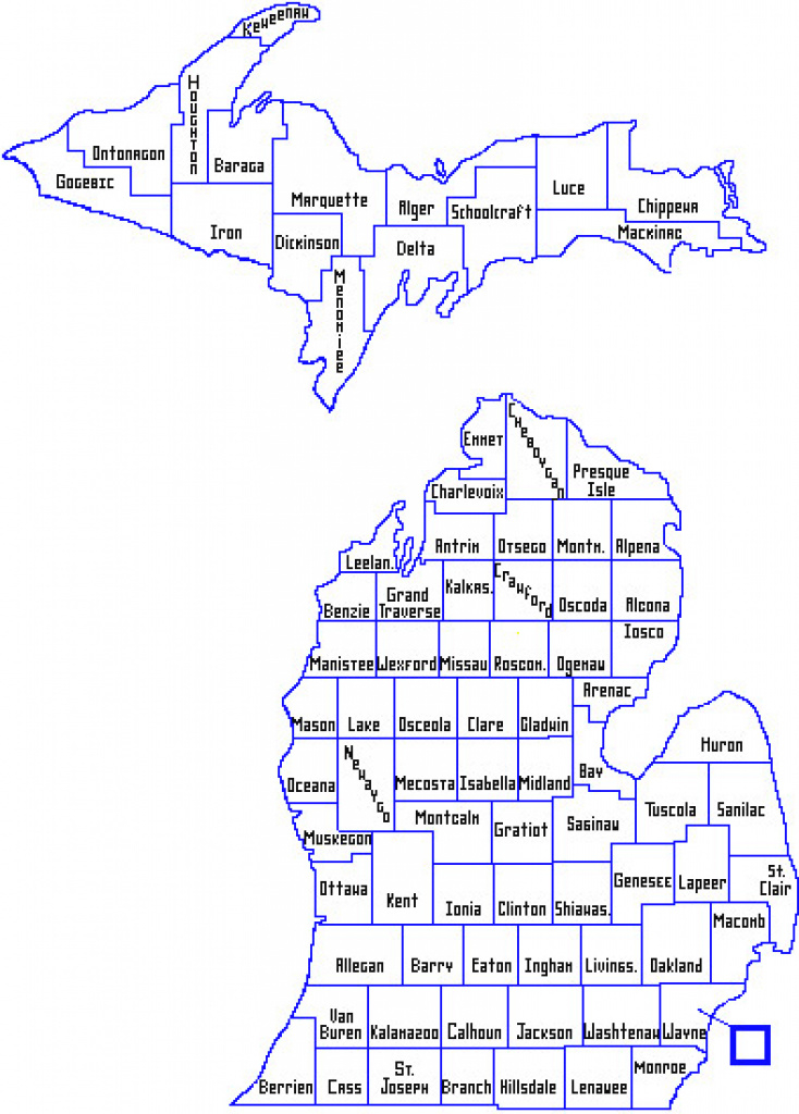 Mdhhs - Local Health Department Map within Maps State Of Michigan Prescription