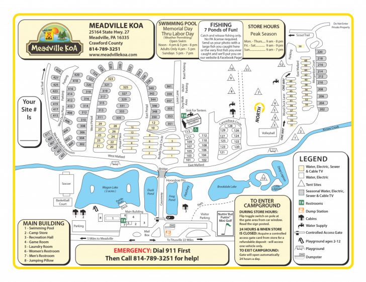 Pymatuning State Park Campground Map