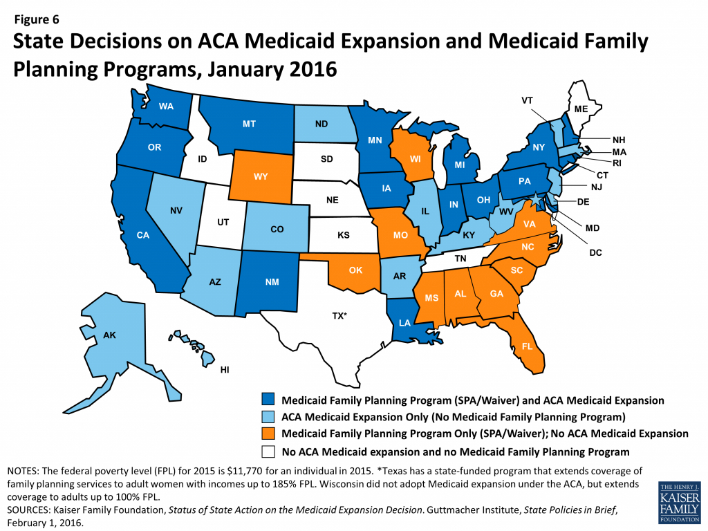 Medicaid And Family Planning – The Aca, Medicaid Expansion, And regarding Medicaid Expansion States Map