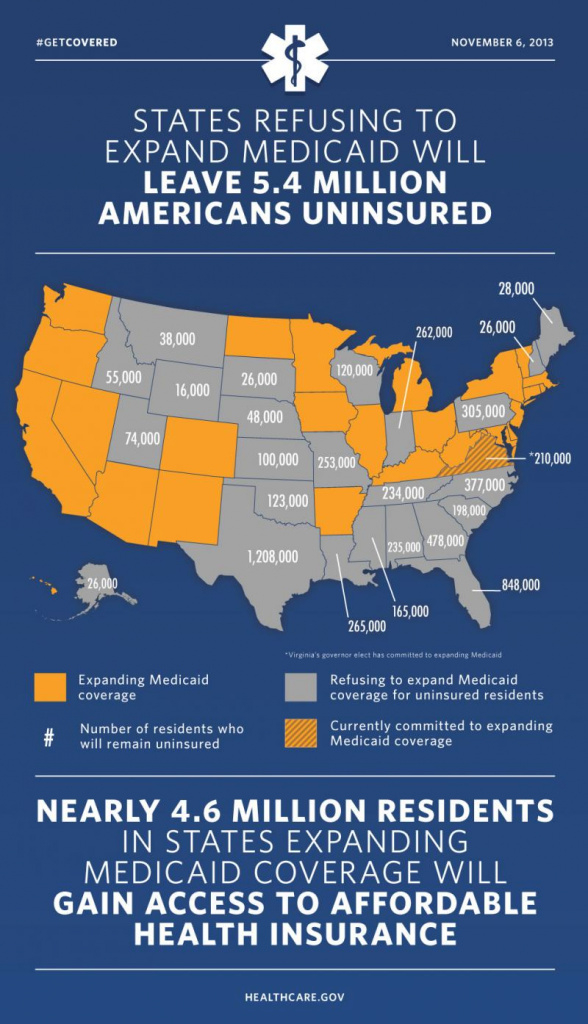 Medicaid Expansion | Michigan Radio intended for Medicaid Expansion States Map