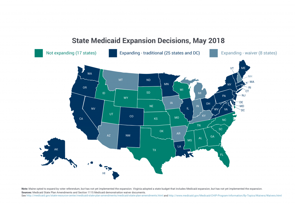Medicaid Expansion To The New Adult Group : Macpac throughout Medicaid Expansion States Map