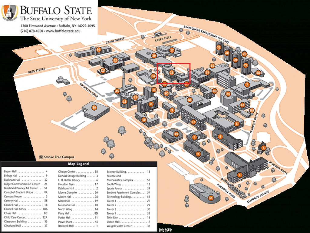 Meetings – Buffalo Astronomical Association intended for Buffalo State College Parking Map