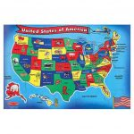 Melissa & Doug United States Of America Map Puzzle | Puzzles For United States Features Map Puzzle