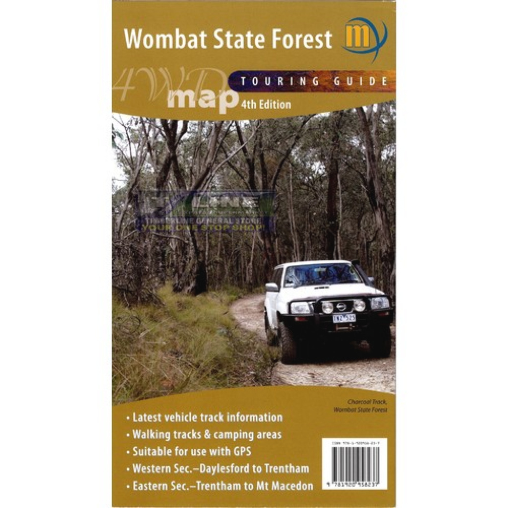 Meridian Maps Wombat State Forest 4Wd Map 4Th Ed within Free Wombat State Forest Map