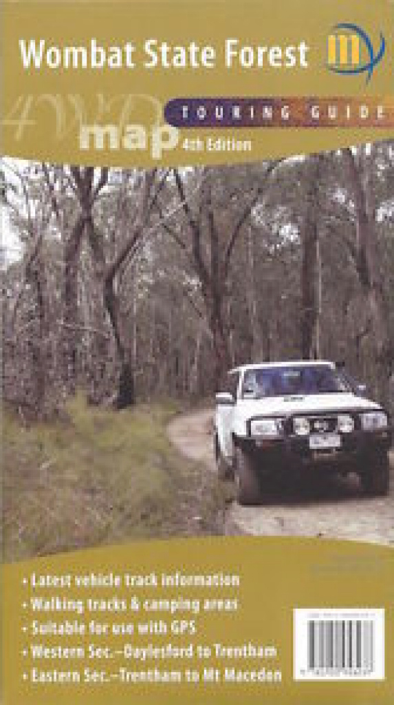 Meridian Wombat State Forest 4Wd Touring Map *free Shipping - New within Free Wombat State Forest Map