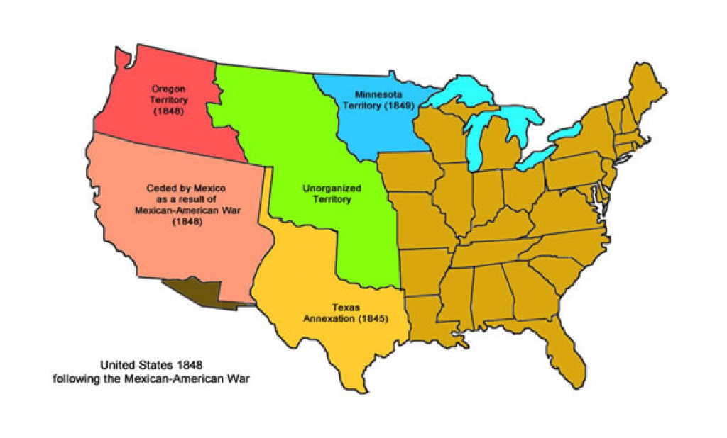 Mexican-American War « intended for Map Of United States 1845