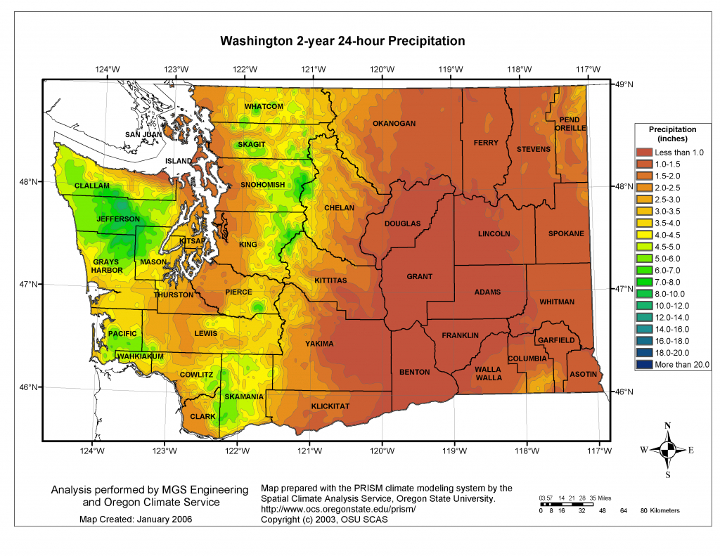 Mgs Engineering Consultants, Inc Precipitation intended for Washington State Flood Map