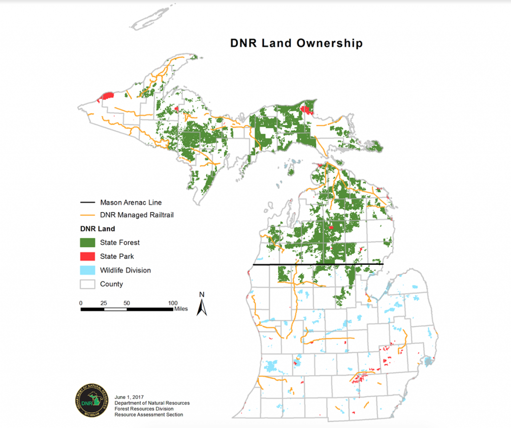 Michigan Battling 22 Invasive Forest Species, High Electric Bills pertaining to Michigan State Forest Map